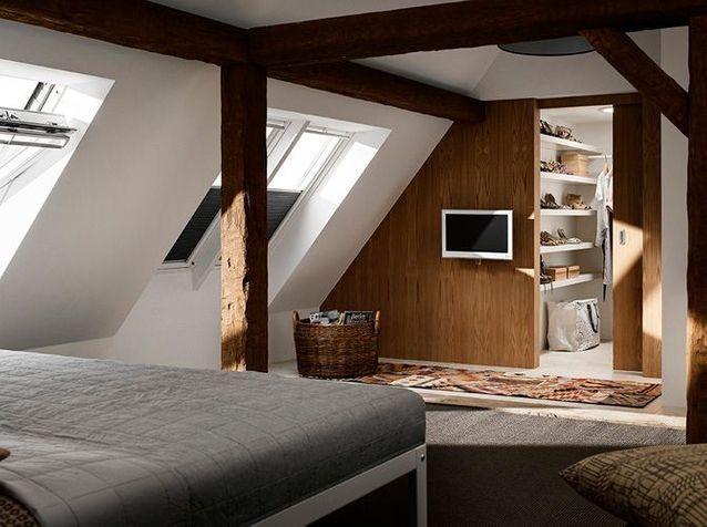 Chambre comble petit espace