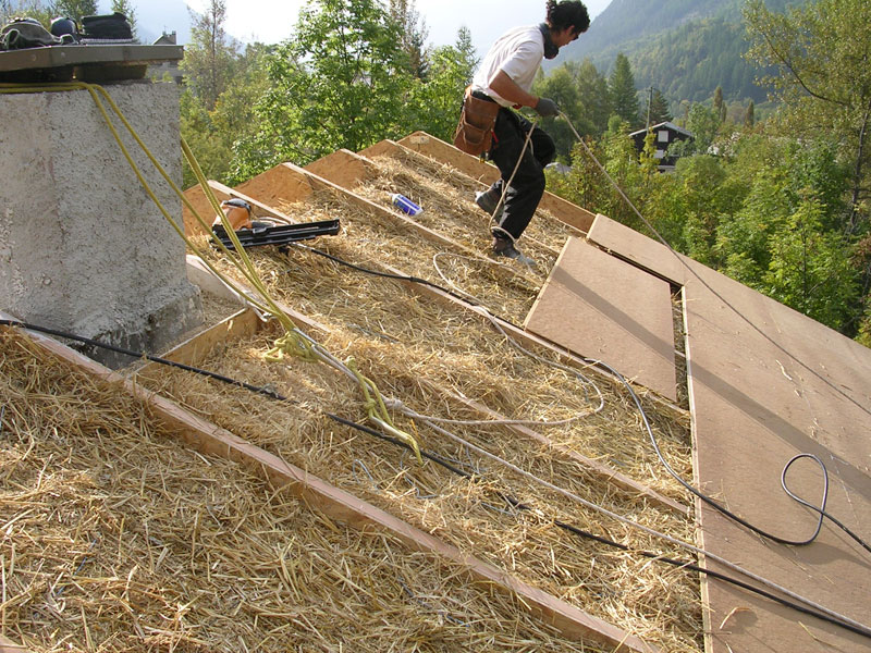 Isolation toiture en paille