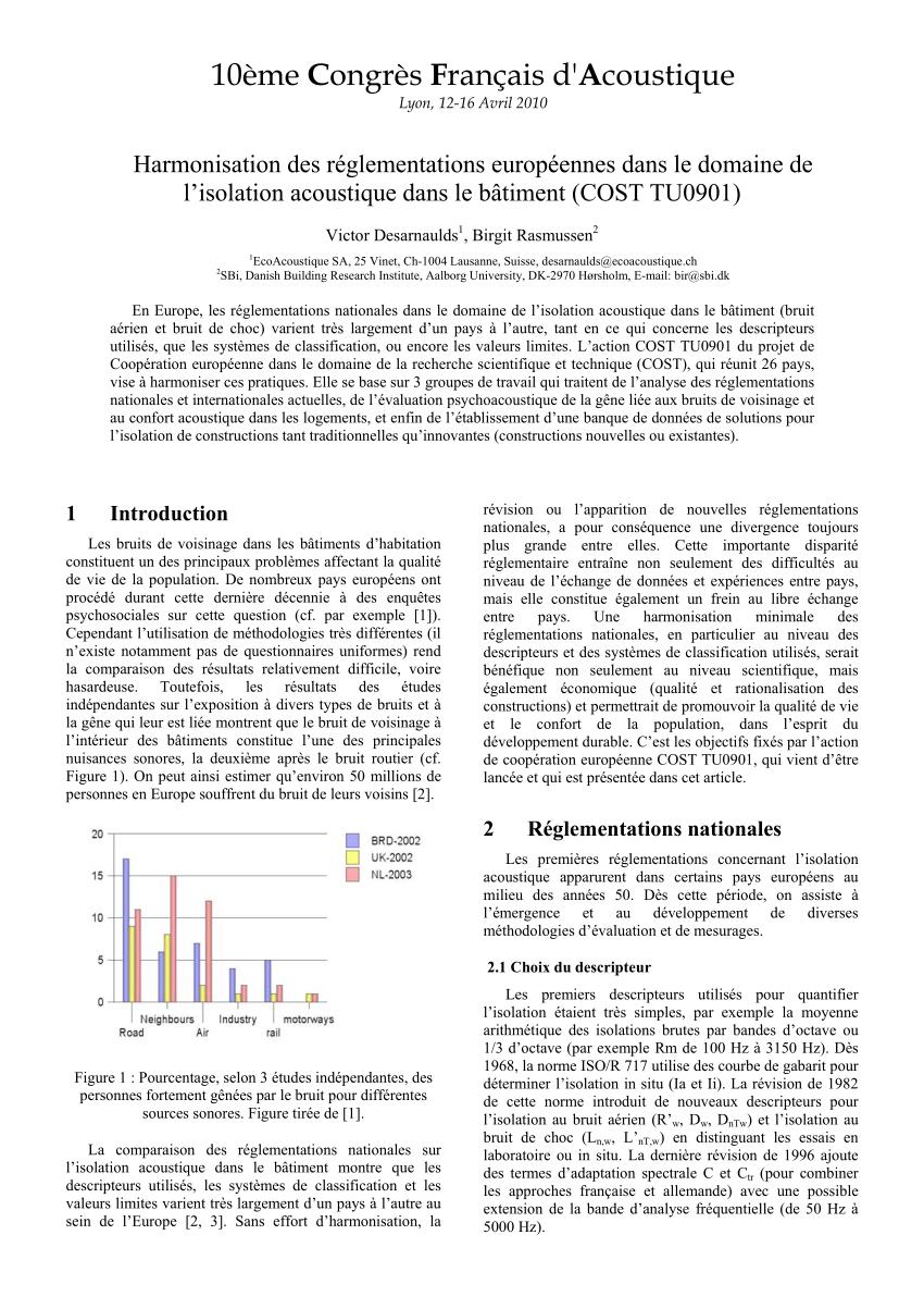 L'isolation acoustique pdf