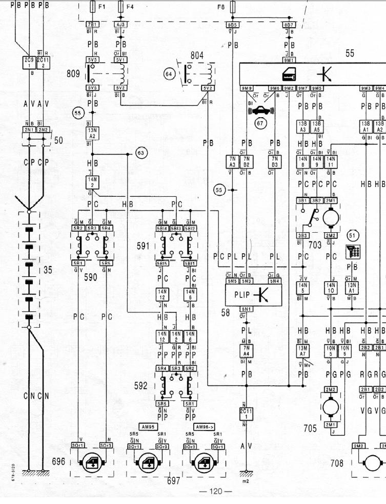 Schema electrique citroen ds