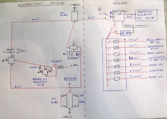 Schema electrique 12 volt