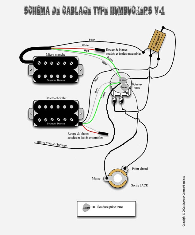 Schema montage micro guitare electrique
