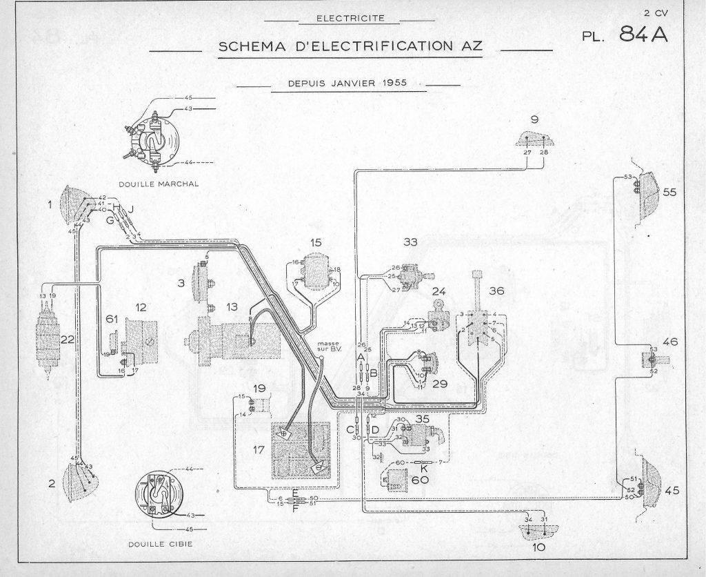 schema faisceau electrique 2cv azam