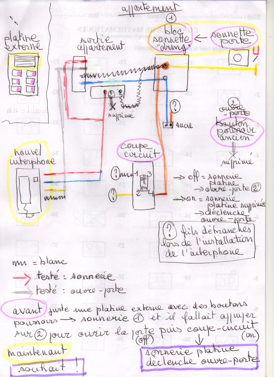 Schema electrique interphone immeuble