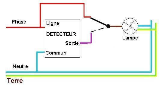 Schéma électrique detecteur de mouvement