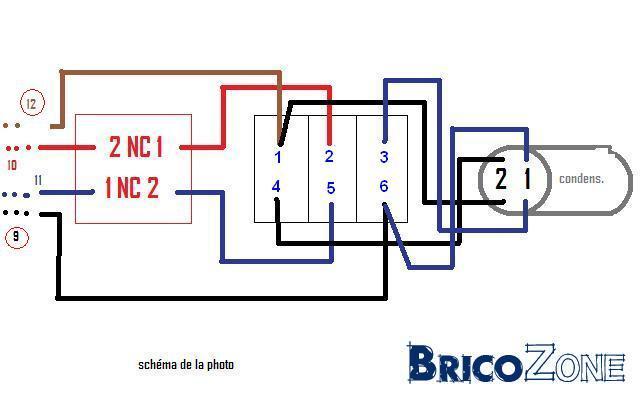 Schema cablage treuil electrique