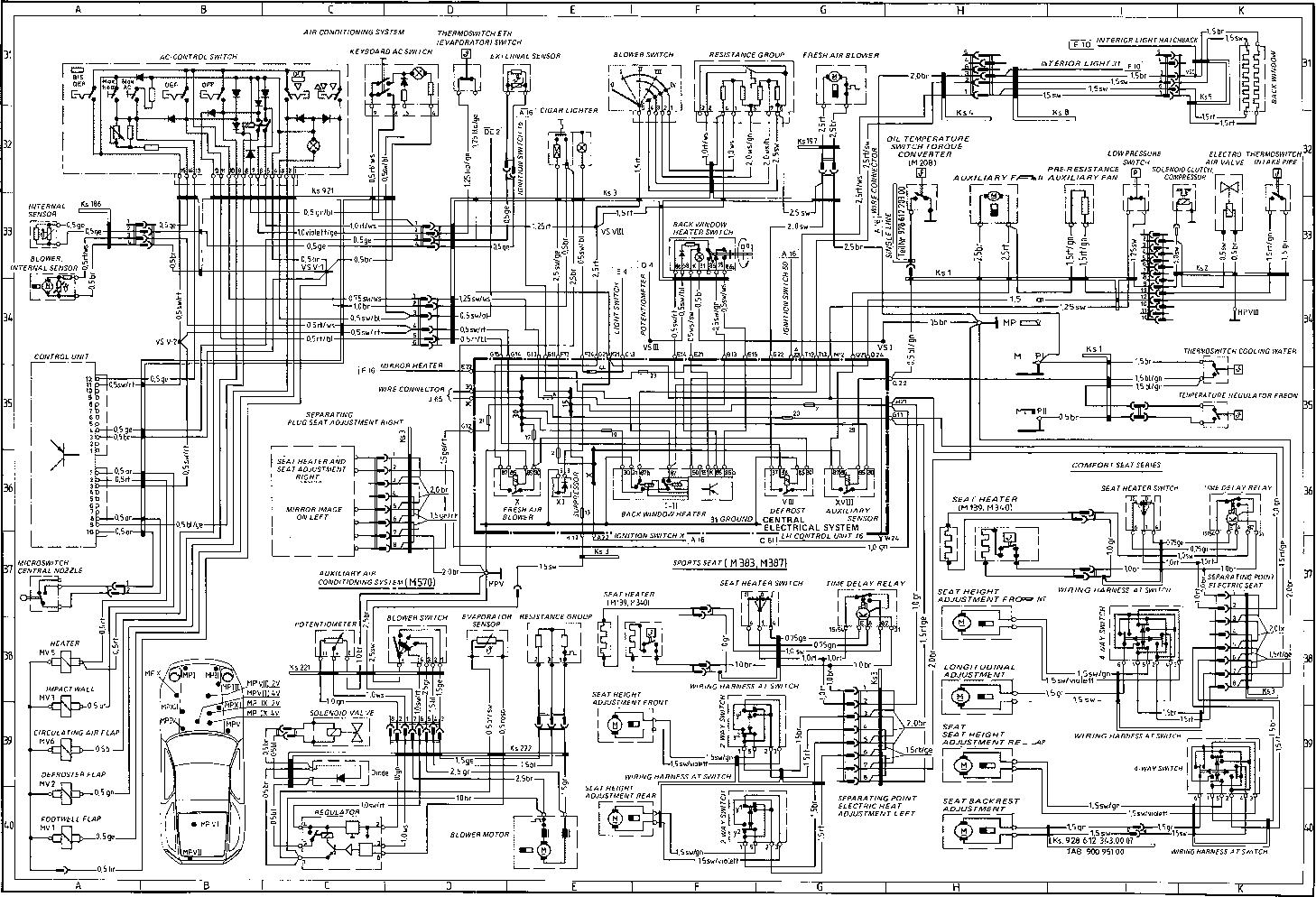 Schema electrique porsche 964