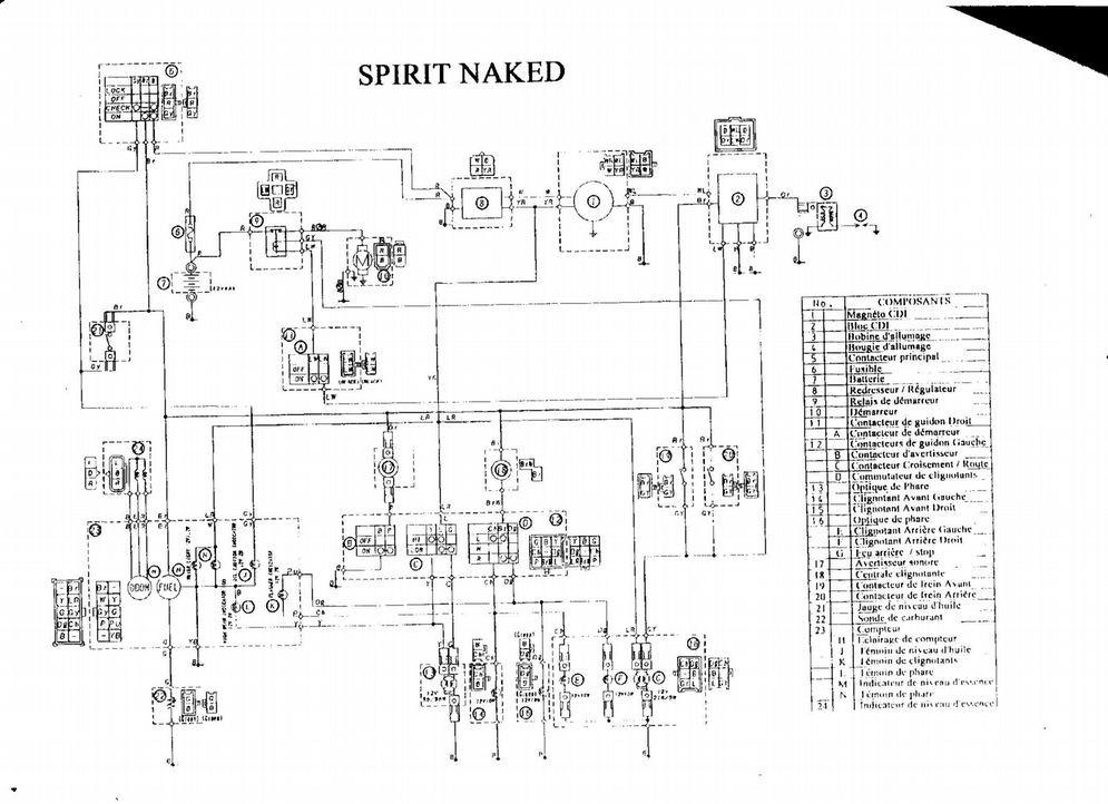 Schéma électrique nitro mbk