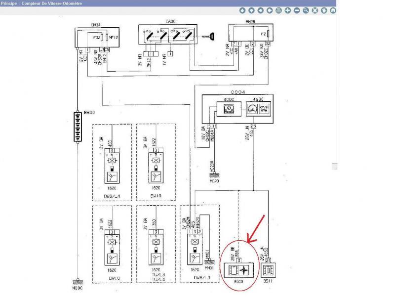 Schema electrique capteur abs