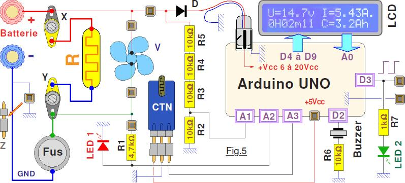 Schéma électrique carte arduino