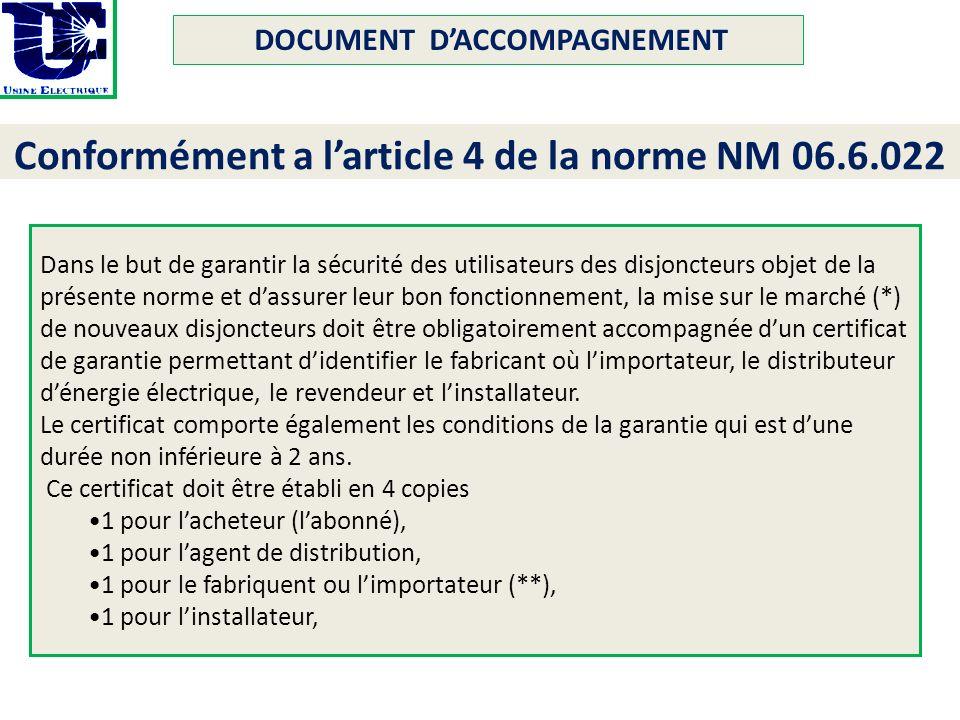 Norme electrique marocaine