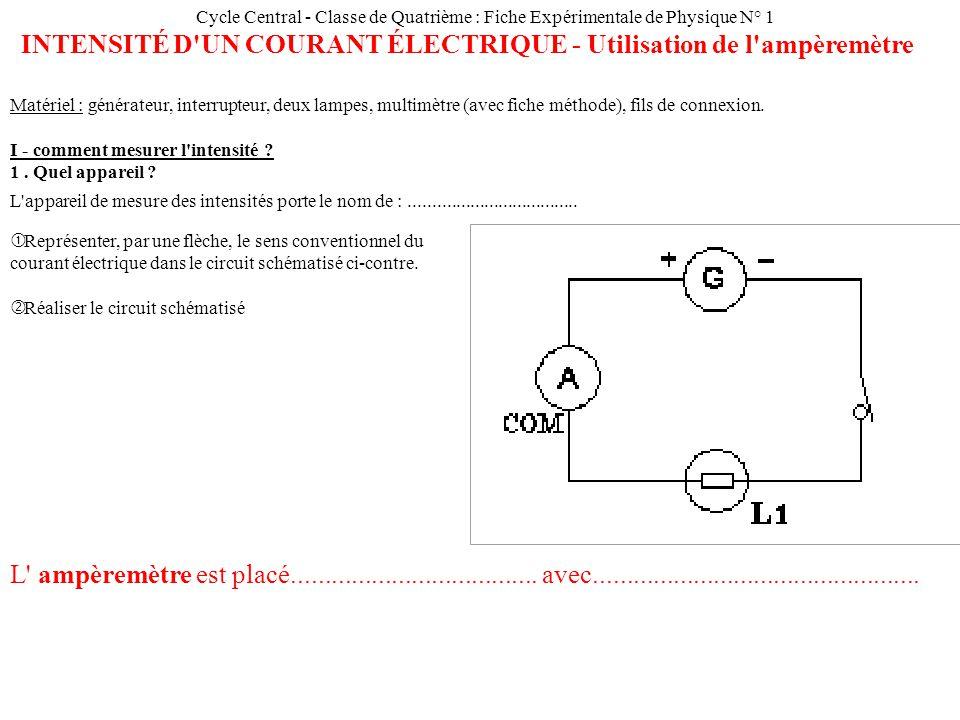 Schema electrique intensité