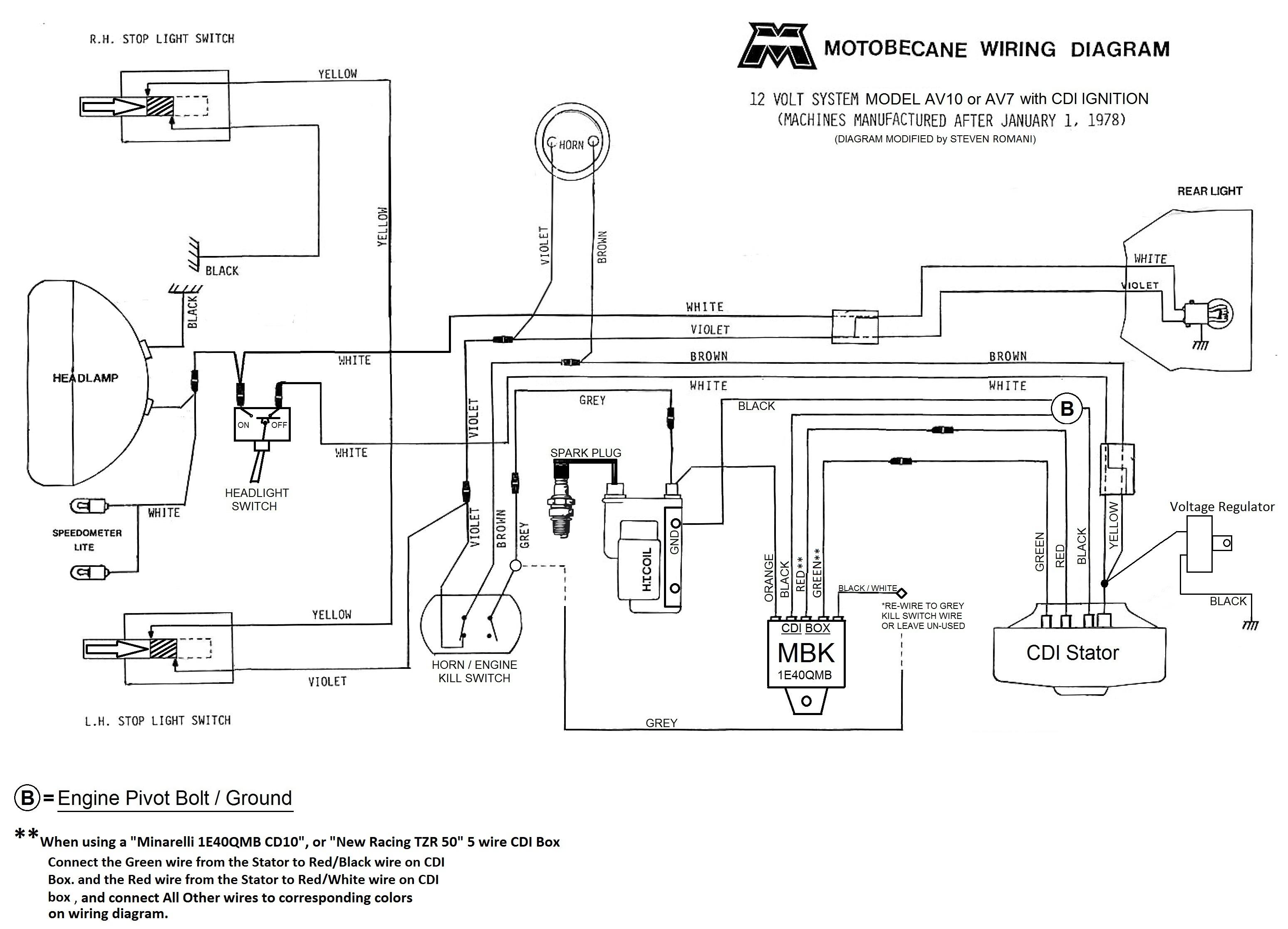Schema electrique motobecane 50v