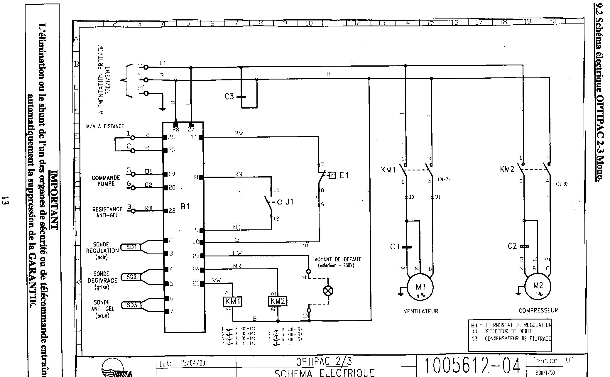 Schema electrique pompe a chaleur