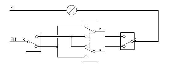 Schema electrique commutateur 3 positions