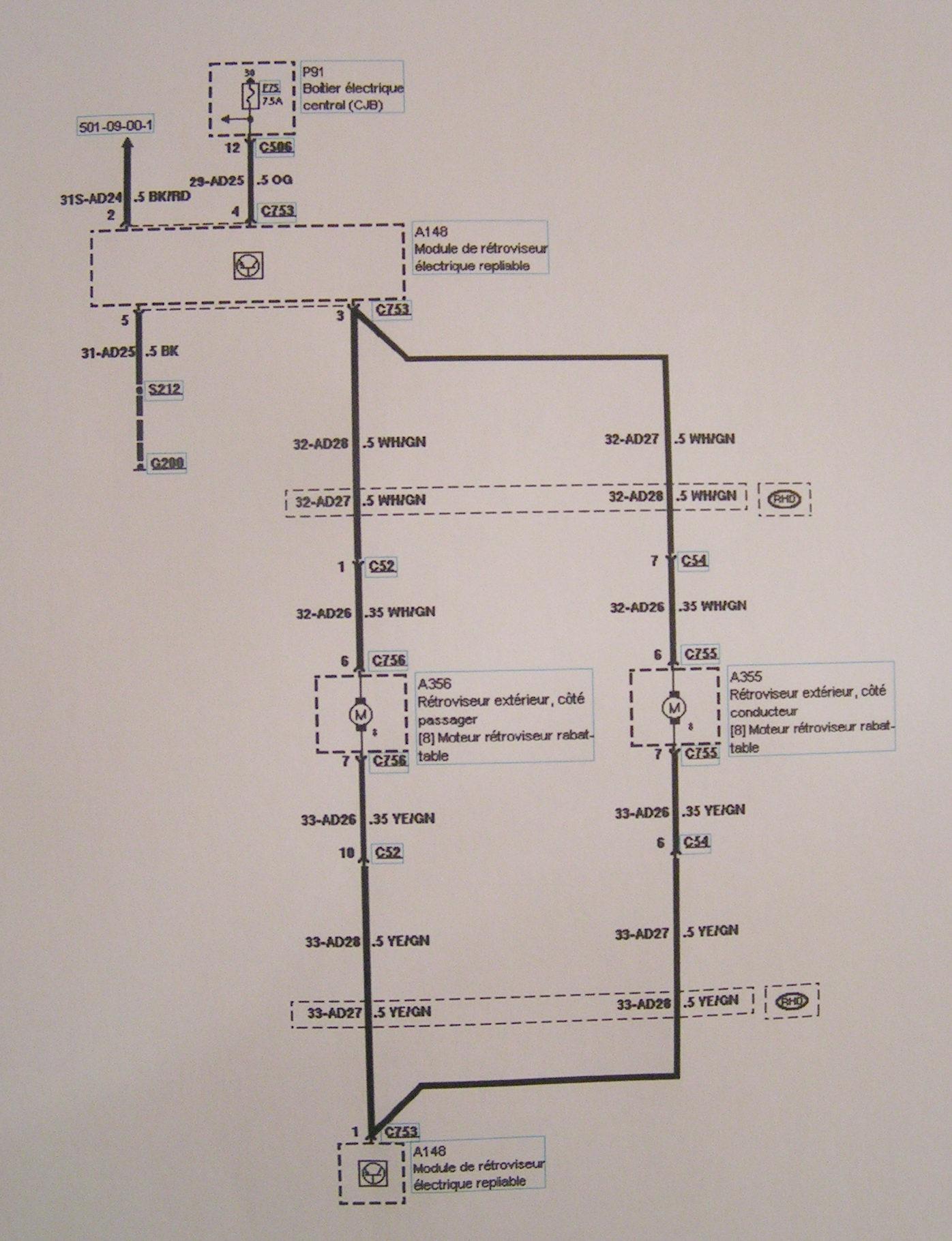 Ford mondeo schema electrique