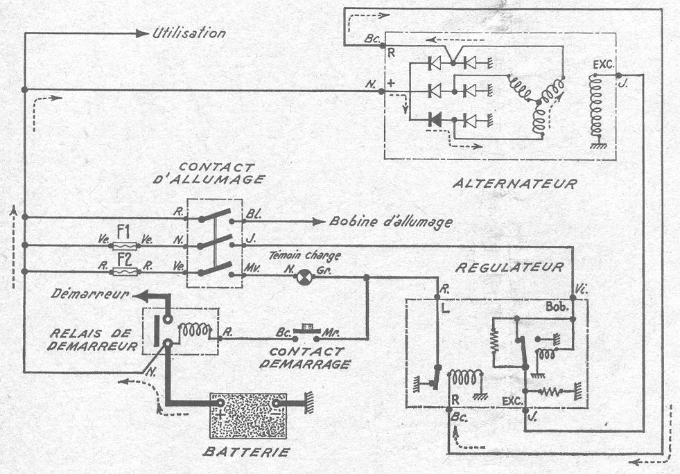 schema electrique prechauffage r21