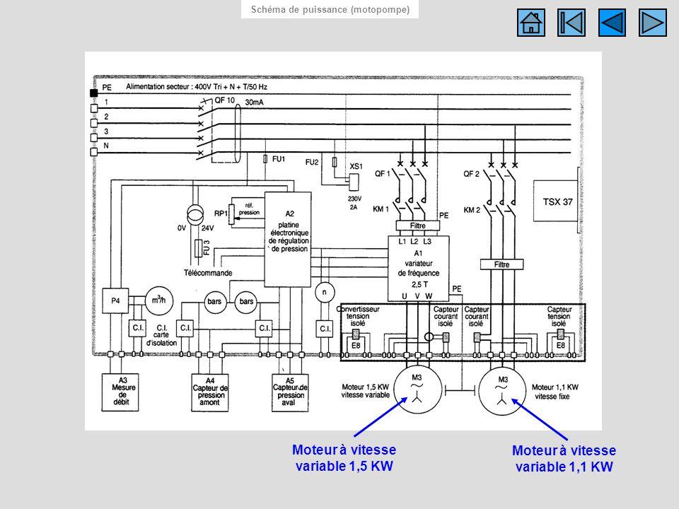 Schema electrique station de pompage