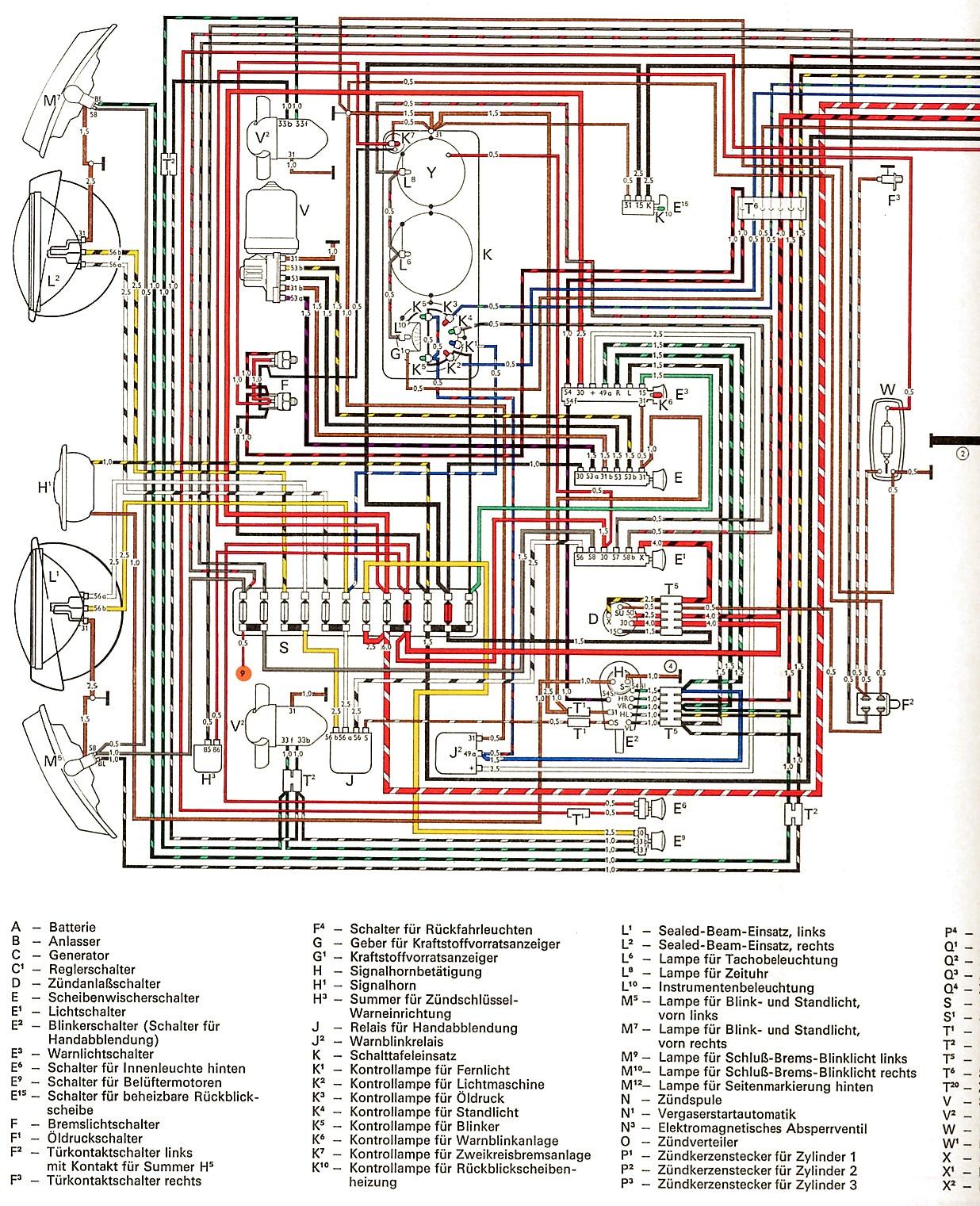 Schema electrique combi vw 1978