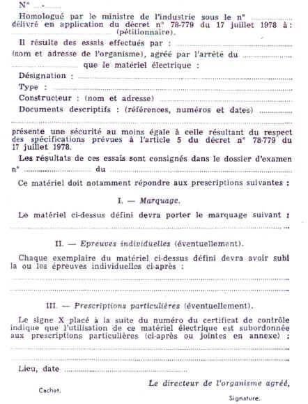 Norme electrique 1978
