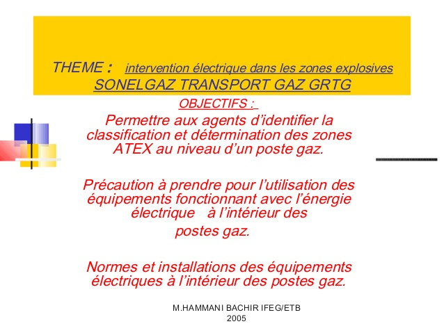Norme electrique zone atex