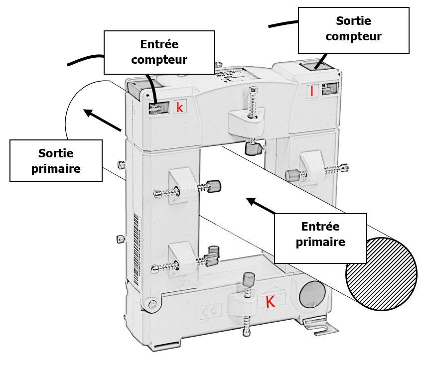 Schéma électrique d'un transformateur