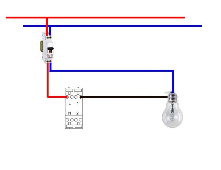 Schema electrique pour installer un interrupteur