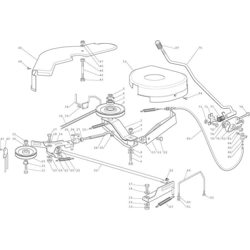 Schema electrique tondeuse autoportée castelgarden nj92