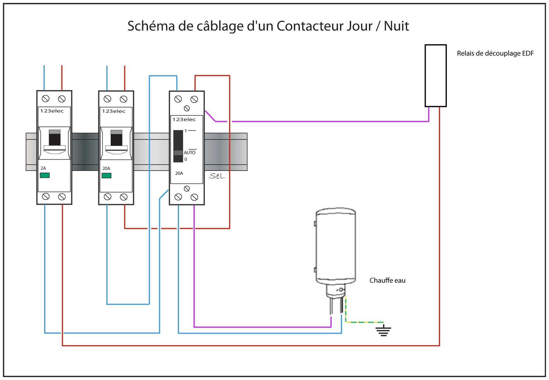 Schema electrique contacteur puissance