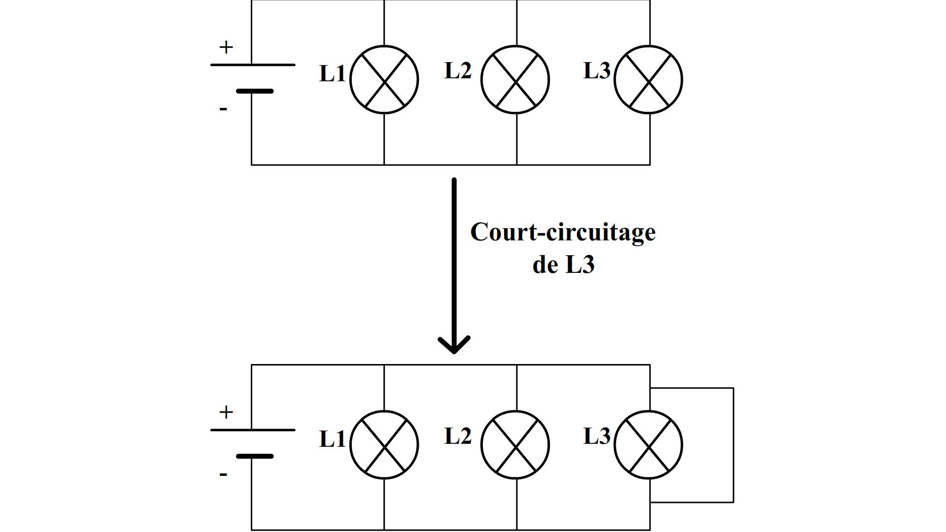Schema electrique lampes en parallele