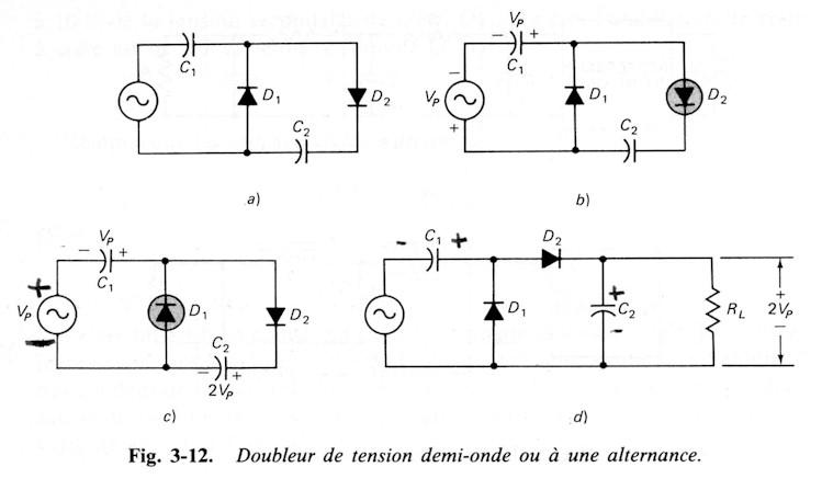 Schema electrique avec une diode