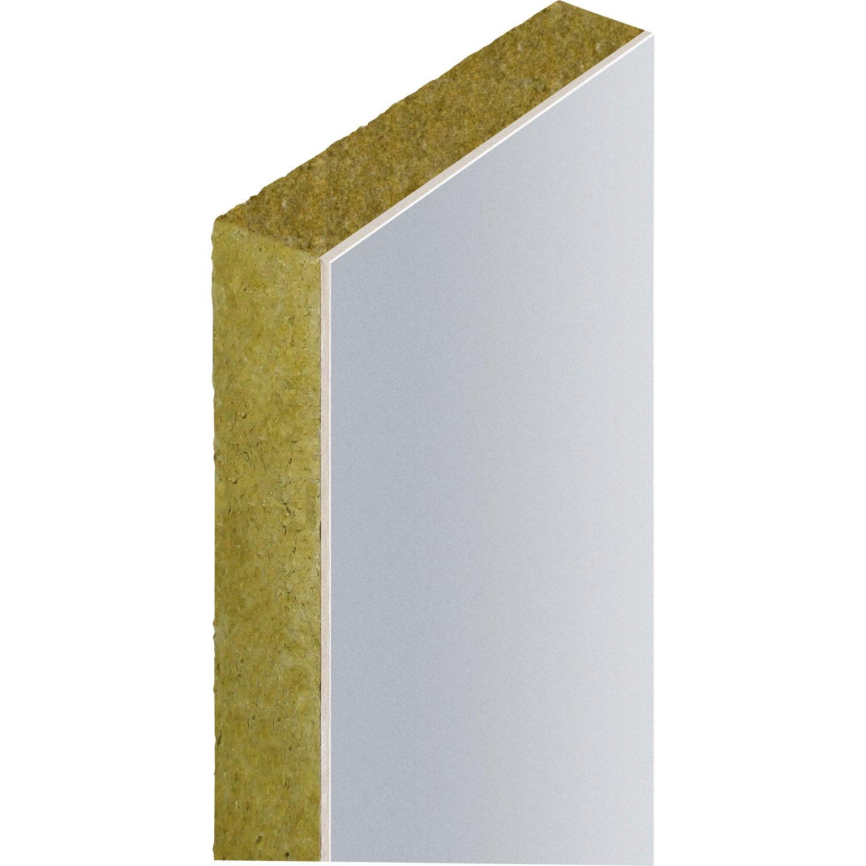 Plaque de placo avec isolant