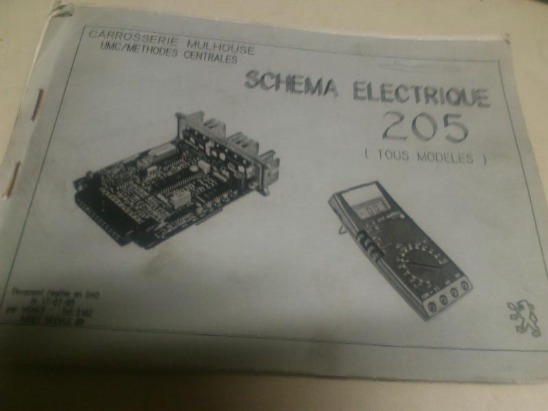 Schéma electrique peugeot 205