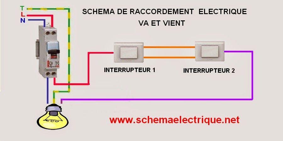 Schema electrique d un interrupteur va et vient