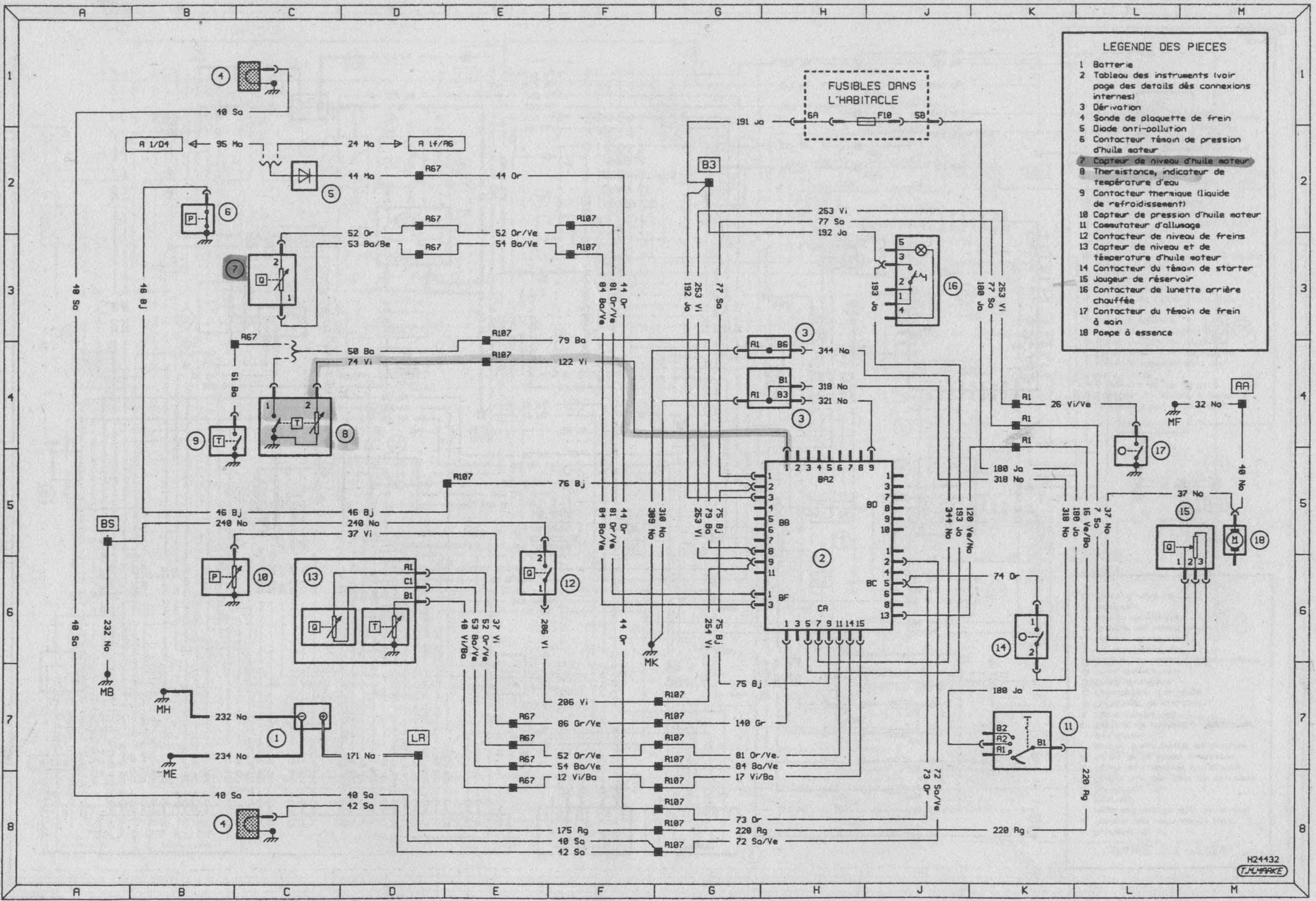 schema electrique clio 1 diesel