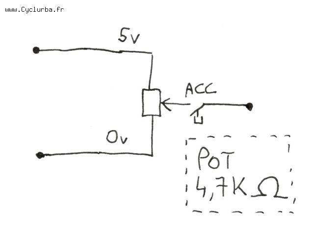 schema electrique accelerateur