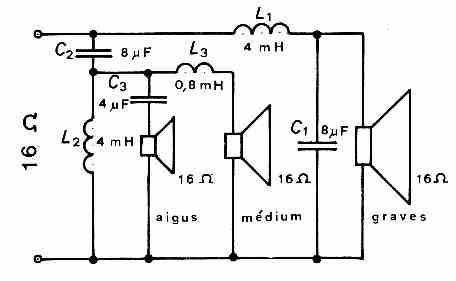 Schema electrique enceinte