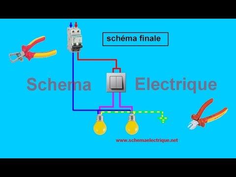 Schema electrique avec deux lampes