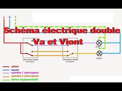 Schéma électrique double va-et-vient