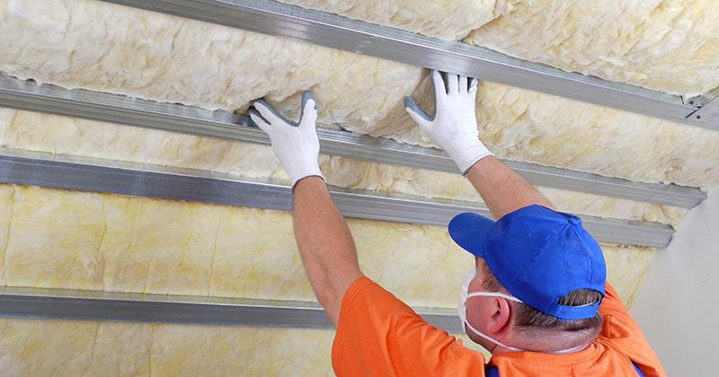 Plaque faux plafond laine de verre