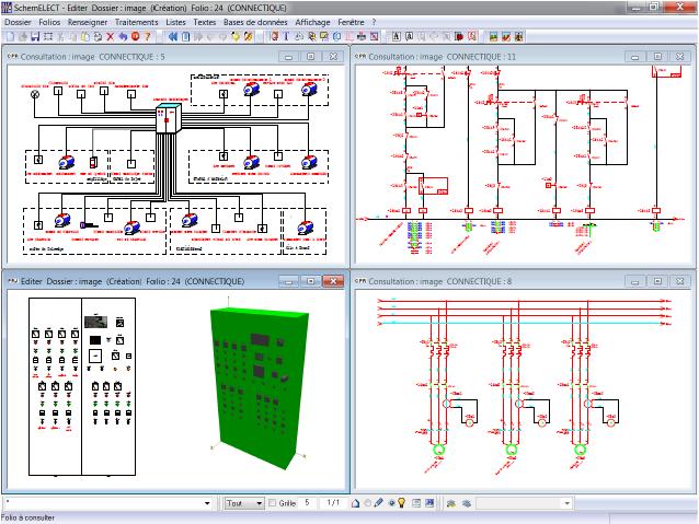 Logiciel simulation schema electrique industriel