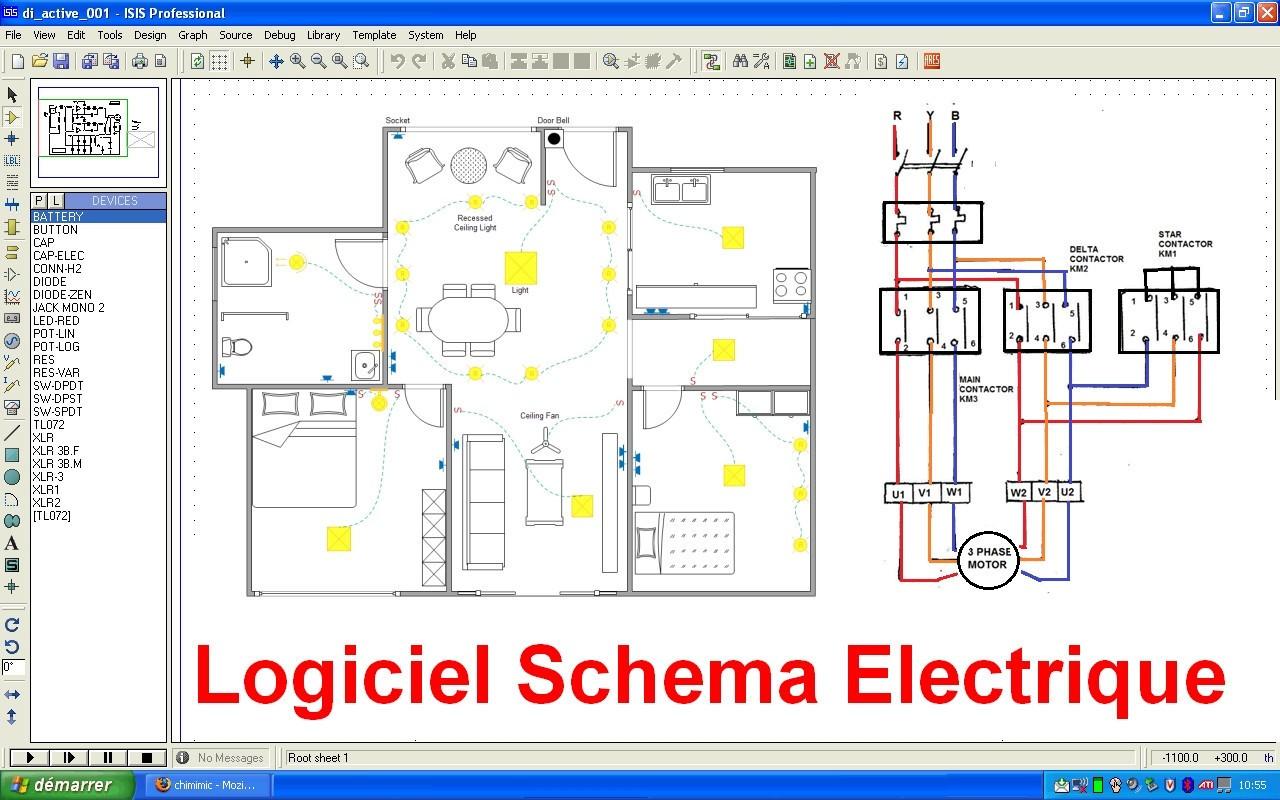 Logiciel schéma électrique bâtiment