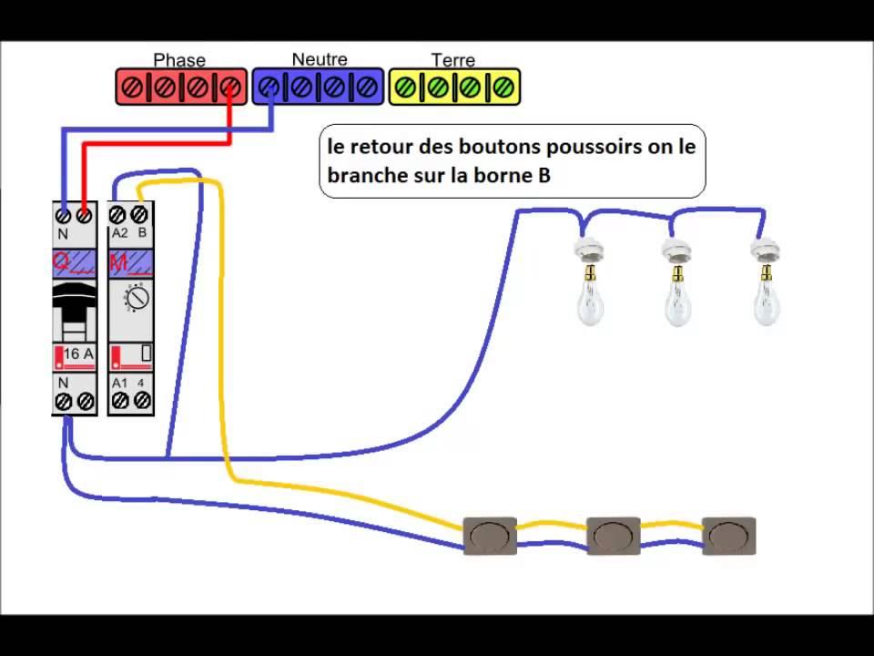 Schema electrique minuterie lampe