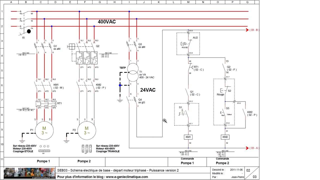 Schema electrique machine synchrone