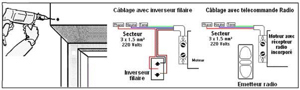 Schéma électrique volets roulants