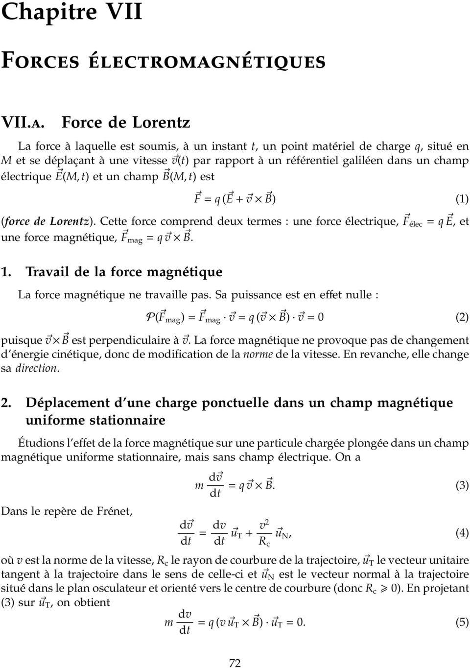 Norme de la force électrique