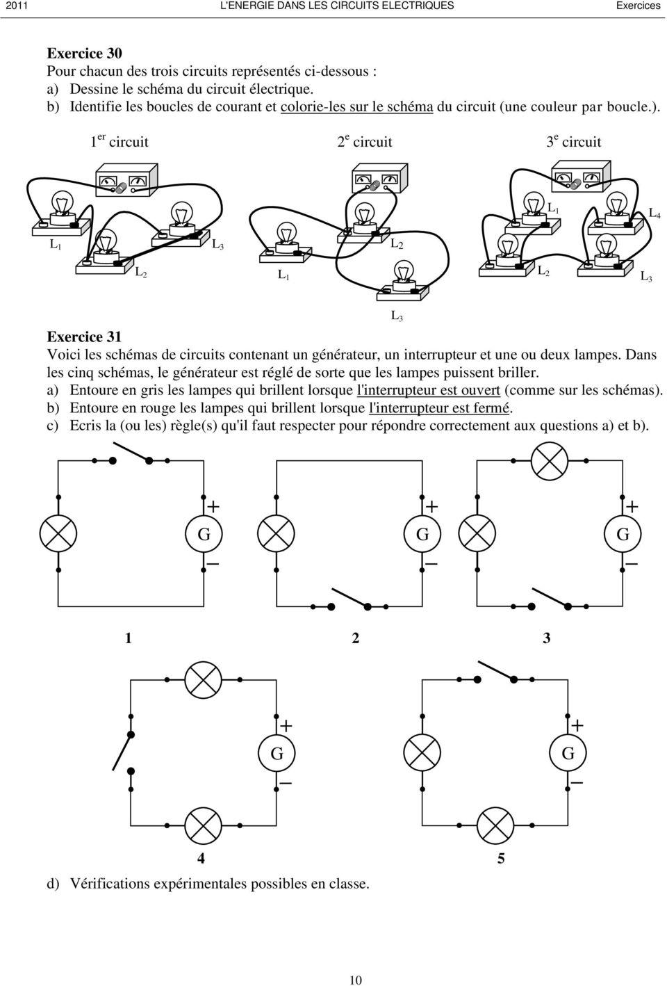 Exercices de schéma électrique