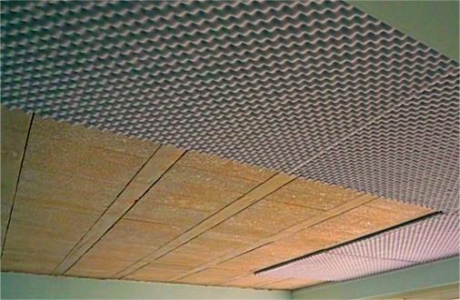 Plaque anti bruit pour plafond