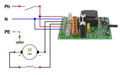 Schema electrique moteur machine à laver
