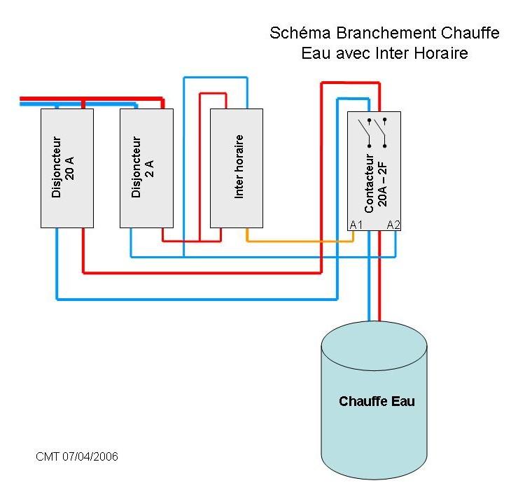 Chauffe eau schema electrique